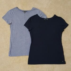 2 Victoria's Secret t shirts small, navy and blue